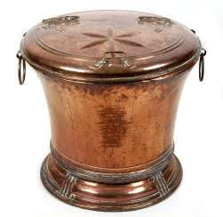 a large copper water container 18. Century