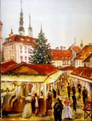 Christmas fair in Europe
