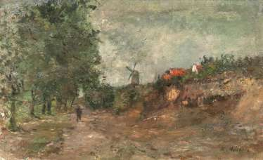 Landscape with wind mill