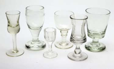 6 goblet / goblet glasses