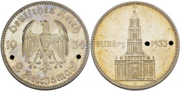 GERMANY 2 REICHSMARK 1934 A - BERLIN