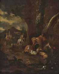 Landscape with shepherds and cattle