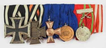 Turkey: medalbar of a Prussian soldier with 6 awards.