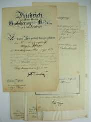 Baden: deed estate of a administration gerichtsrath.