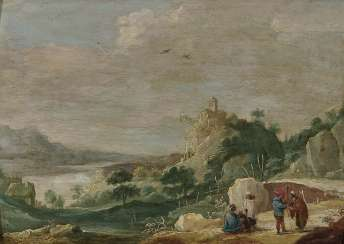 Landscape with figure staffage