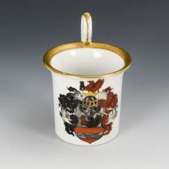 Cups with coat of arms decor