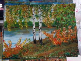 Birch trees. Fall