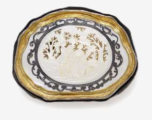 Belt buckle with mother-of-pearl carving. Germany, carving: 1770-1780, as amended later