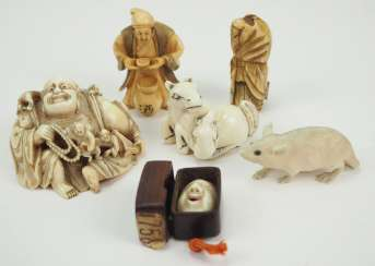 Japan: collection of 5 Netsuke.