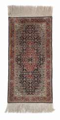 Small silk rug with Herati-pattern China
