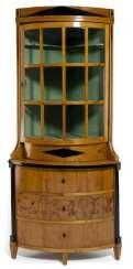 Biedermeier Eckaufsatz Showcase. Middle English, C. 1825