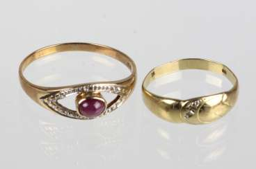 2 ladies ring with trim - GG 333