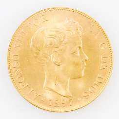 Spanien/Gold - 100 Pesetas 1897 (NP 1962), Alfonso XIII.