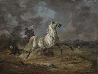 Karl Friedrich Schulz, called Jagdschulz - The riding accident