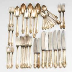 Silver Rest Of The Cutlery.