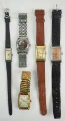 Lot of 5 ladies wrist watches.