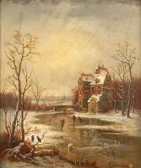 SCHULER, G.: winter landscape with Perso