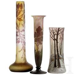 Three Art Nouveau vases, France, 2nd half of the 20th century