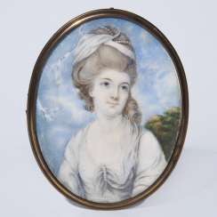 Portrait miniature: Young lady with a hair band
