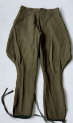 Russia: boot pants. Olive green, coarser cloth