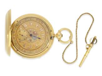 Pocket watch: fine, heavy Pocket chronometer for the Ottoman market with rare