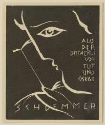 Schlemmer, Oskar - Ex-Libris: from the library of Does and Oskar Schlemmer