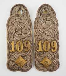Baden: Pair of shoulderboards for an Oberst-Lieutenant in the 1. Badische Leib-Grenadier-Regiment Nr. 109.
