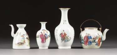 TWO JUG AND TWO VASES China
