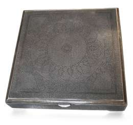 SILVER BOX, THE CAUCASUS, ENGRAVING