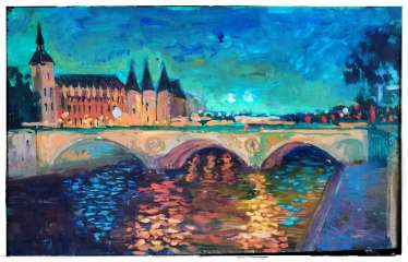 """Blue night over the Seine"""