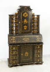 Arte Povena Venitian secretaire with ten small drawers and central door on top