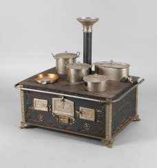 Märklin big doll stove with accessories