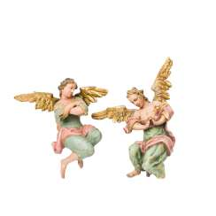 PAIR OF WINGED ALTAR ANGELS