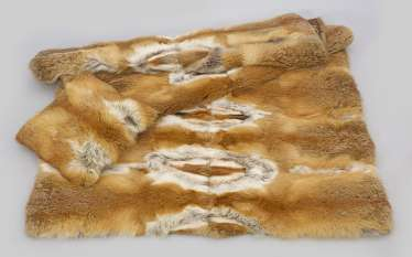 Fur bedspread with pillow