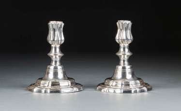 PAIR OF CANDLESTICKS IN THE BAROQUE STYLE