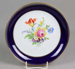 Meissen cobalt bowl * flower bouquet *