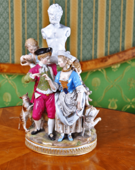 Meissen, Germany, mid-nineteenth century, the ATOR model M. V. issue year, China
