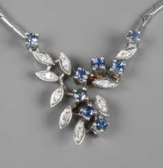 Necklace with sapphires and diamonds