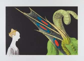 Warhol, Andy (1928 Pittsburgh - 1987 New York). Aus: Details of renaissance paintings (Paolo Uccello, St. Georg and the dragon, 1460)