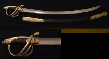 The marine officer's sword. 1811 in sheath.