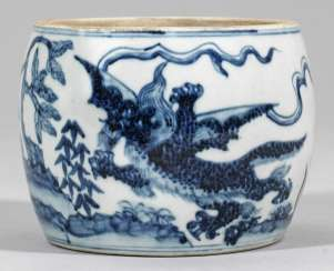 Blue brush Cup-and-white of the Ming dynasty from the