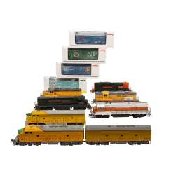 ATLAS / LIFE-LIKE / MÄRKLIN and others, mixed lot of diesel locomotives and freight cars, gauge H0,