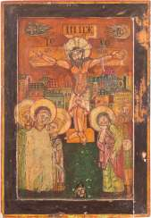 LARGE-FORMAT ICON WITH THE CRUCIFIXION OF CHRIST