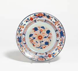 Imari plate with floral decoration