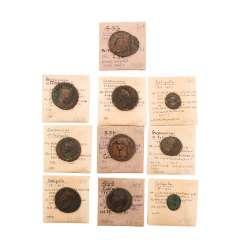 A number of Ancient of the Romans. Kaiser time - for example, 1 x ROM. Imperial times - Bronze, starting in 37 ad,
