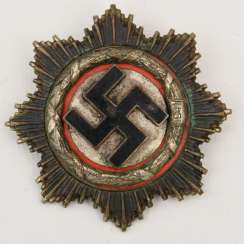 GERMAN CROSS multi-piece, silver-plated/enameled, probably after 1945