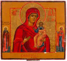 ICON WITH THE MOTHER OF GOD OF SMOLENSK (SMOLENSKAJA) Russia