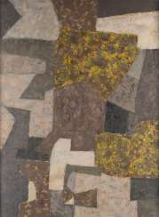 SERGE POLIAKOFF (RADIUS) 1900 Moscow - 1969 Paris. COMPOSITION IN BLUE AND VIOLET WITH YELLOW