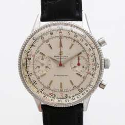 BREITLING Chronomat with a grain of rice, bezel, Ref. 808, CA. 1960s. Stainless steel.