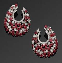 Few representative ruby earrings